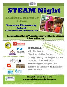 STEAM Night Flyer 2015