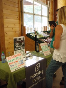 Tabling event at Volante Farms
