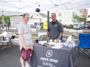 Signing up for Home Energy Assessments at the Needham Farmers Market