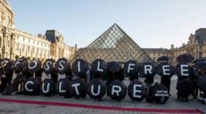 Fossil Fuel Protest at the Louvre Museum