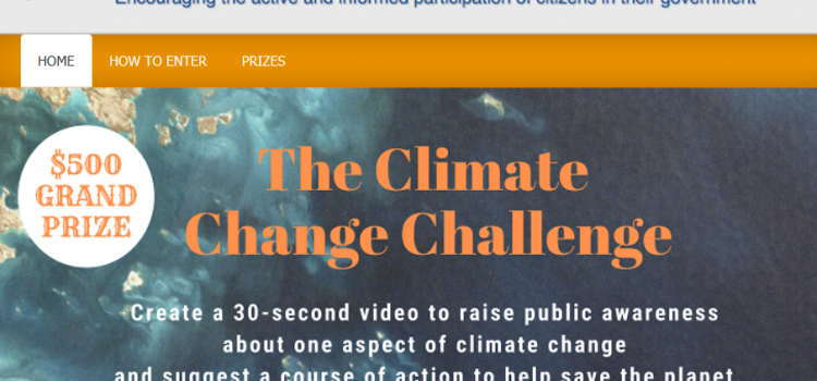 LWV Climate Change Challenge for High School Students