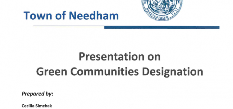 Show your Support for Needham becoming a Green Community – Select Board Hearing Wednesday, October 16th